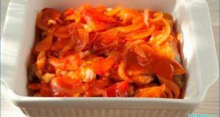 Сытная горбуша в томатном соусе