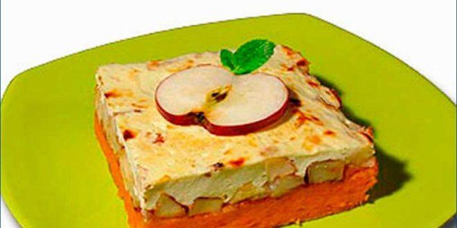 Запеканка из тыквы с яблоками прямо в СВЧ