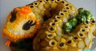Салат «Змея» — украшение торжественного стола
