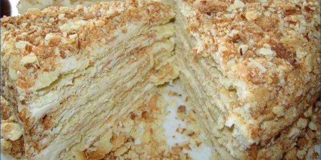 Торт Наполеон из замороженного теста