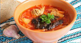 Суп с черносливом необычно и вкусно