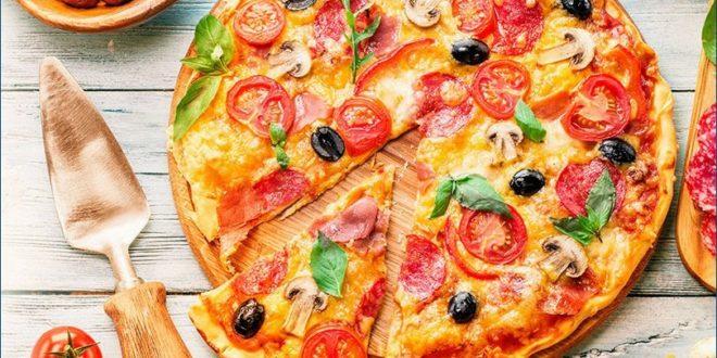 Быстрая пицца в микроволновке