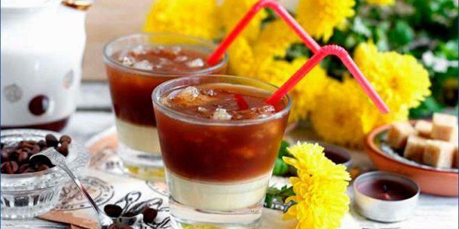 Двухслойный кофе-фраппе со сгущенкой