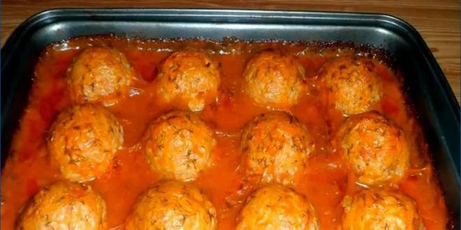 Легкое и ароматное мясное блюдо «Ежики»