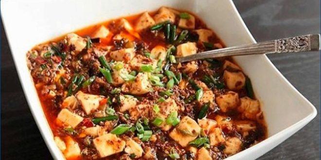 Жареный тофу со свининой либо мапо из тофу